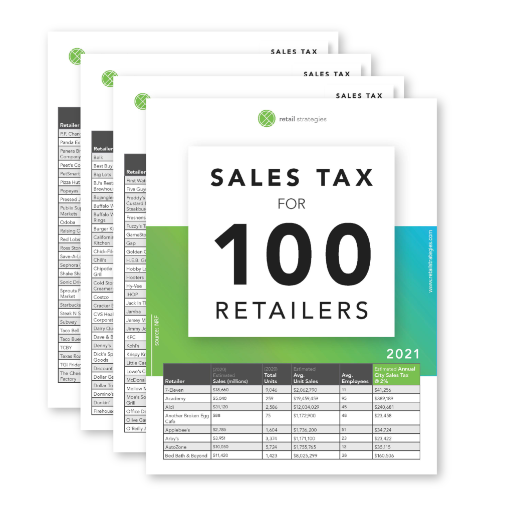 sales tax revenue for 2021 retailers