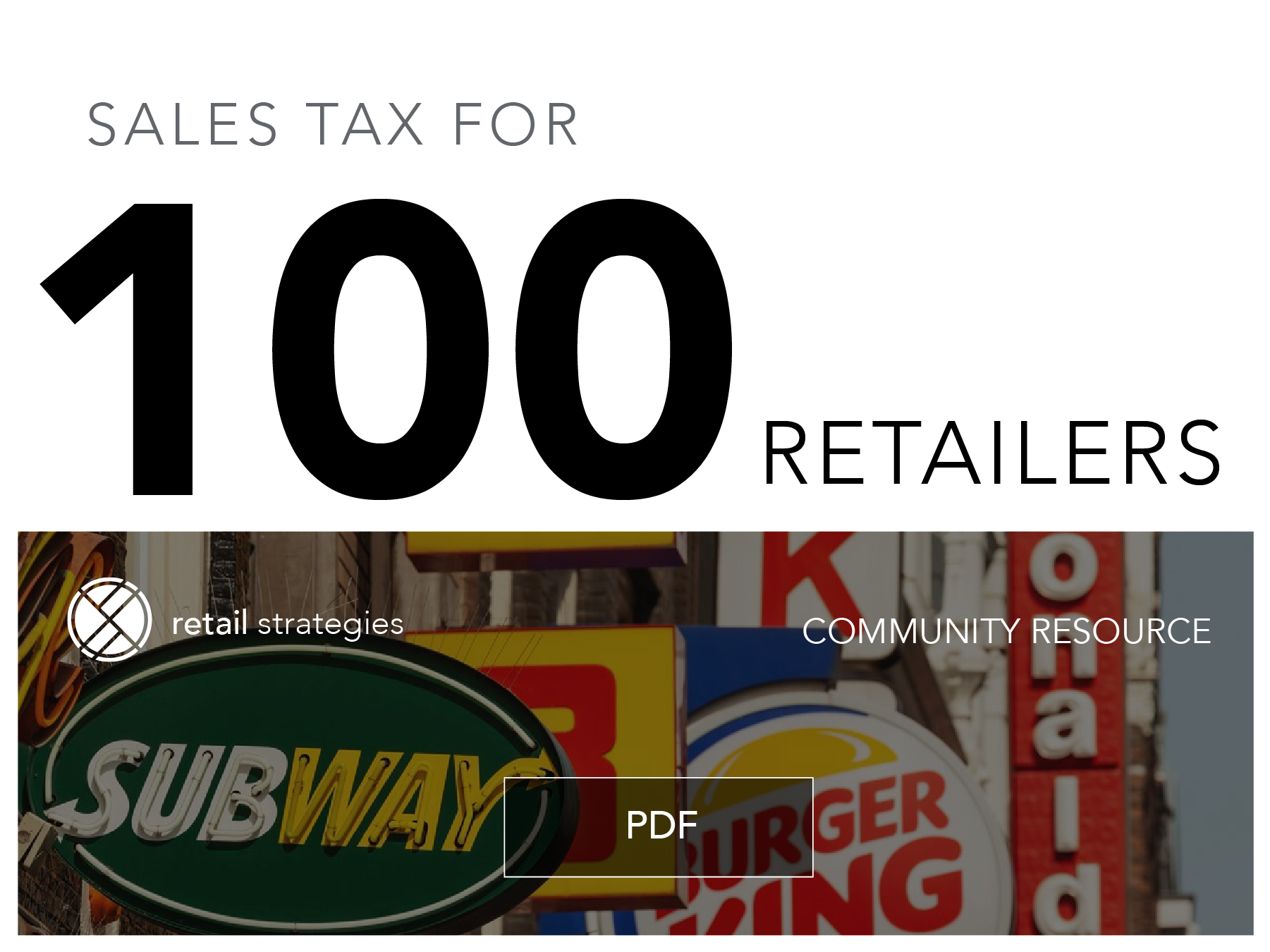 sales tax and estimated revenue for 100 retailers 2021