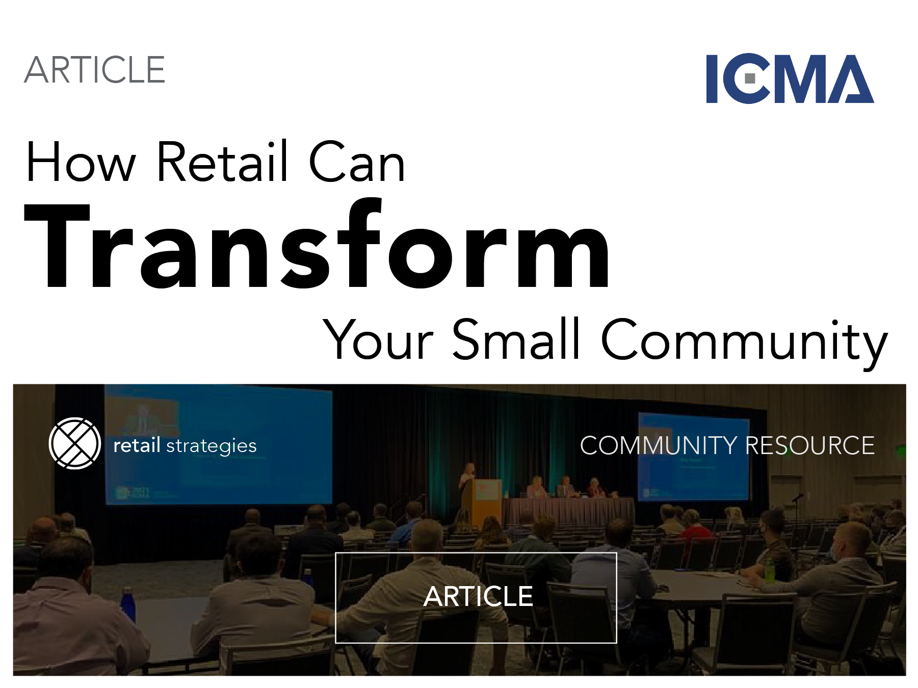 ICMA + how retail can transform your small community